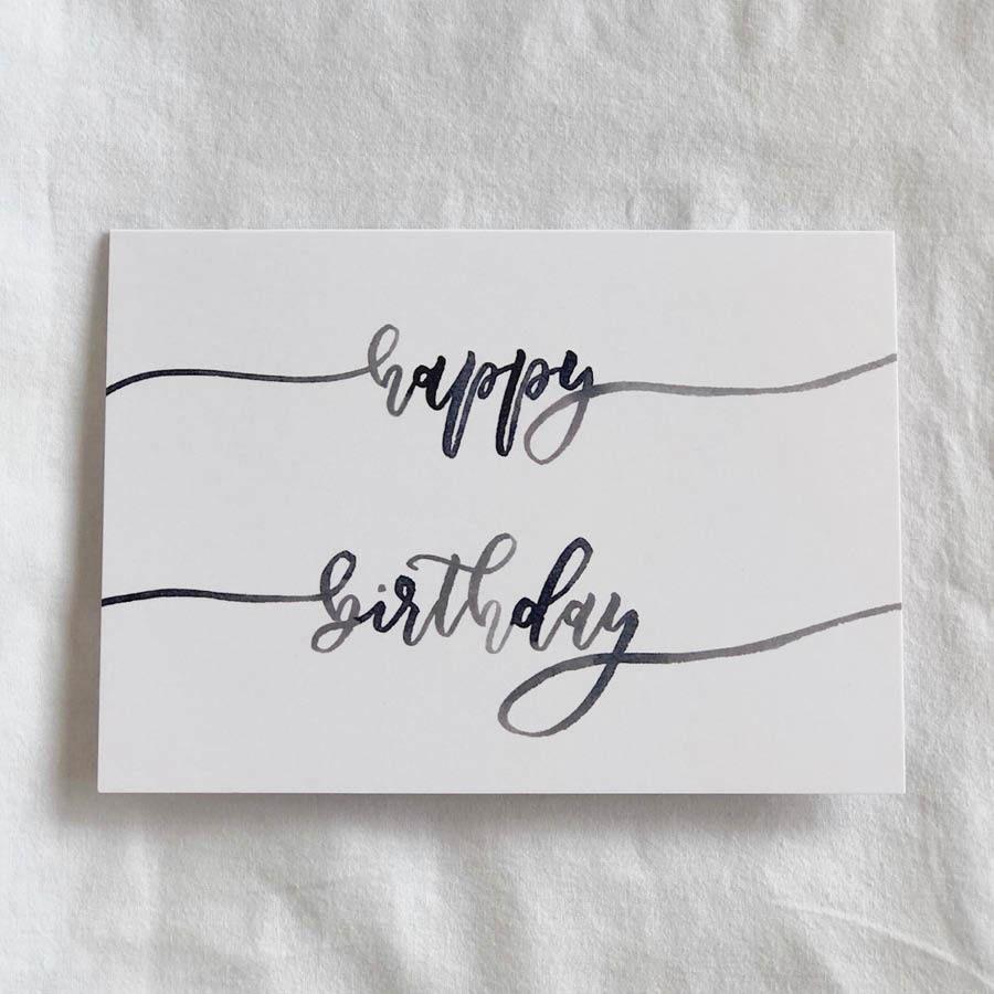 Happy Birthday Calligraphy Card