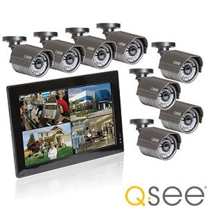Q-See   8-channel Security System  with 500GB Hard Drive and  8 High-resolution Cameras