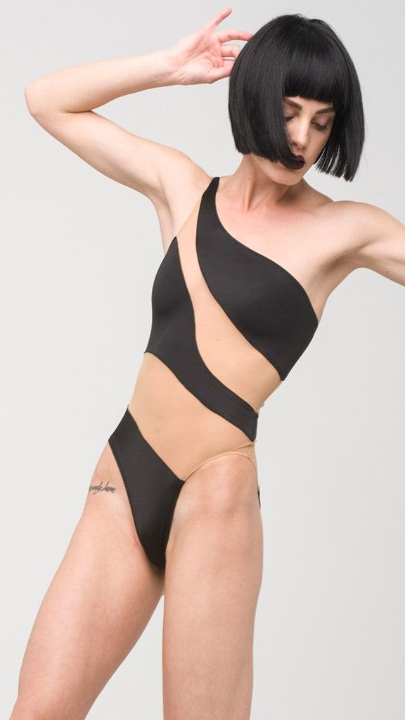 010d90238b Our Snake Mesh Mio is a piece for the illusionists. An asymmetric pattern  of nude mesh and smooth