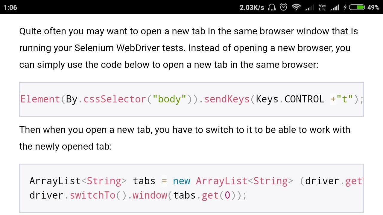 Open A New Window In Selenium Webdriver Coding, Windows