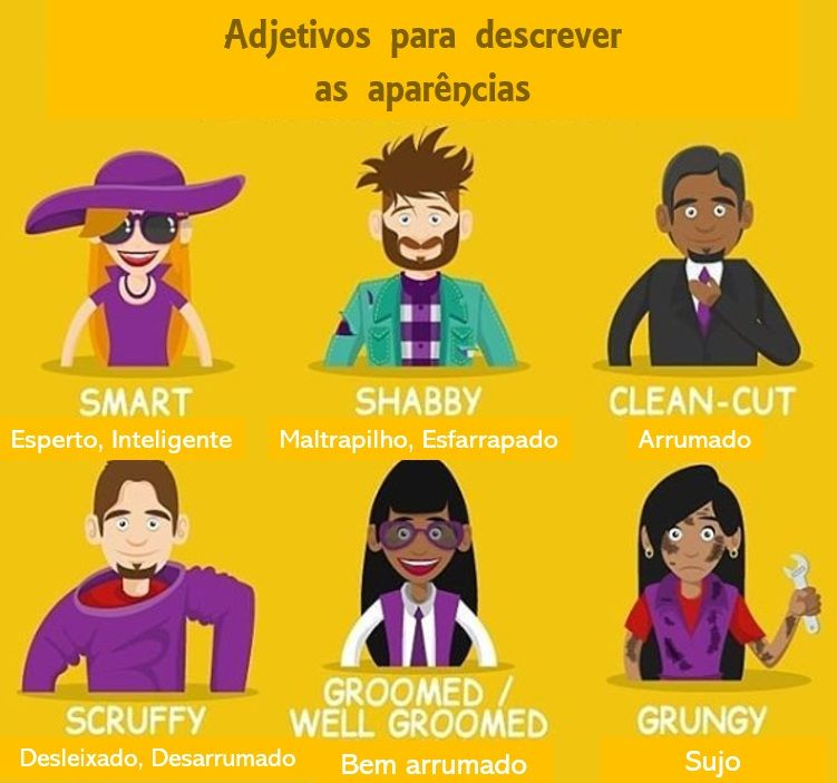 Adjetivos Para Descrever As Aparencias Vocabulario Em Ingles