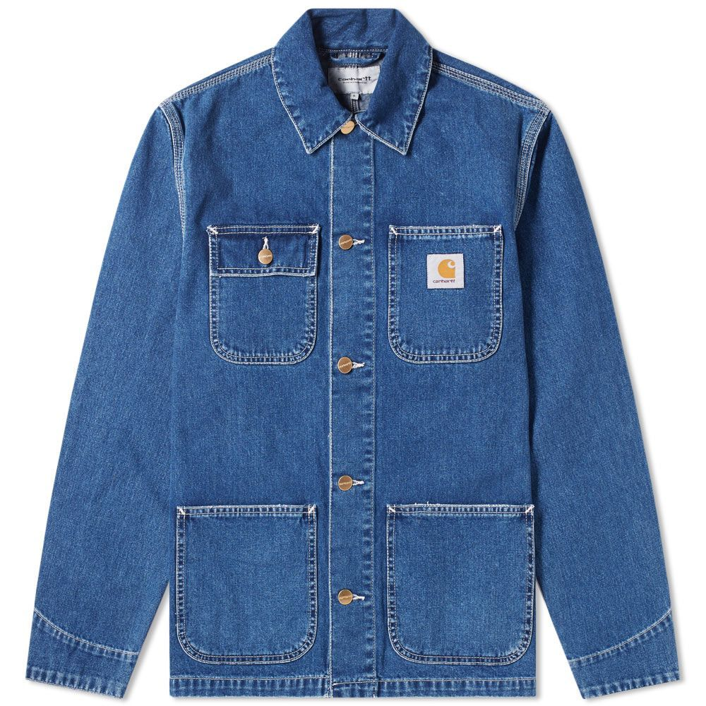 Carhartt Michigan Chore Coat Blue Dark Stone Washed | END