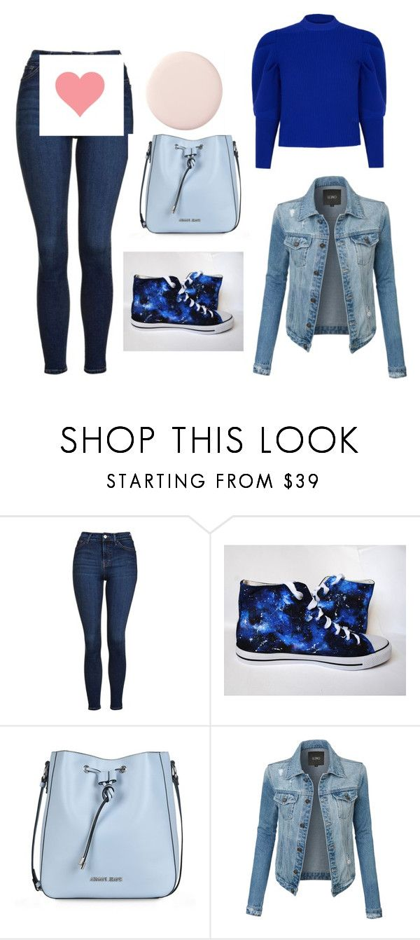 """""""Без названия #3"""" by klopulinsky ❤ liked on Polyvore featuring Topshop, Armani Jeans, LE3NO and Paper London"""