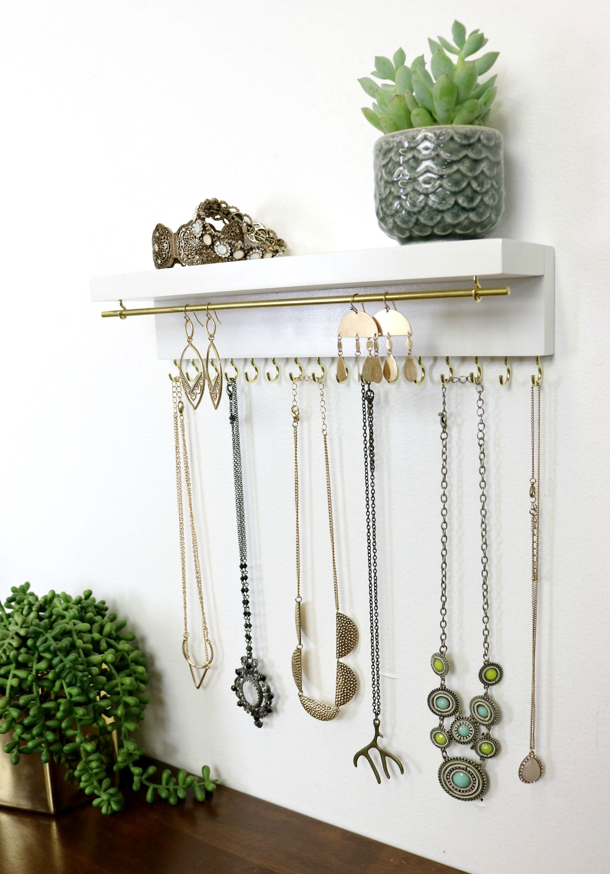 Photo of Jewelry Organizer With Shelf, Necklace Holder, Bracelet and Earring Holder