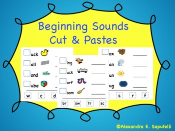 Beginning Sounds | My Classroom Creations!!! | Beginning sounds
