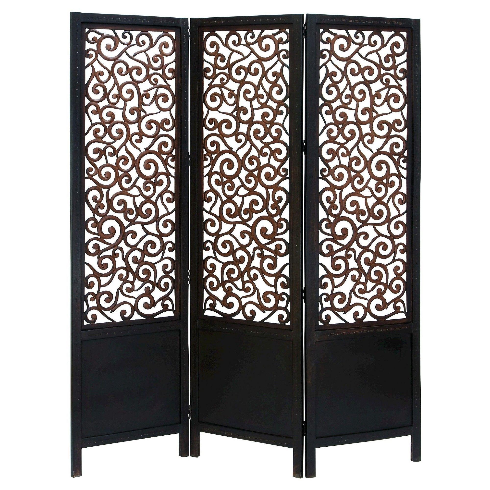 Room dividers panel wooden screen