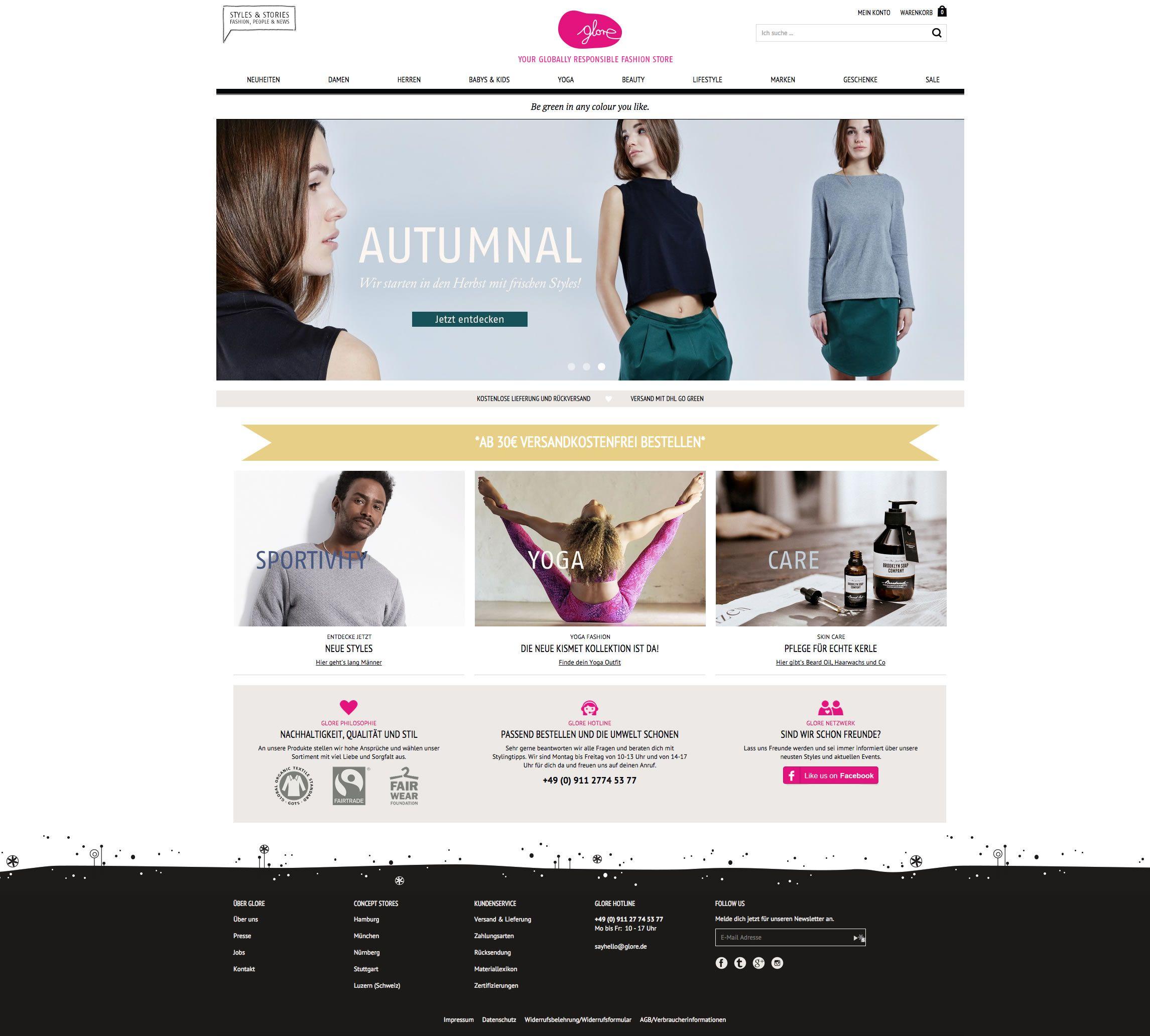 hot sale online 63d6d ddb18 Bio Mode und faire Kleidung online kaufen • glore ...