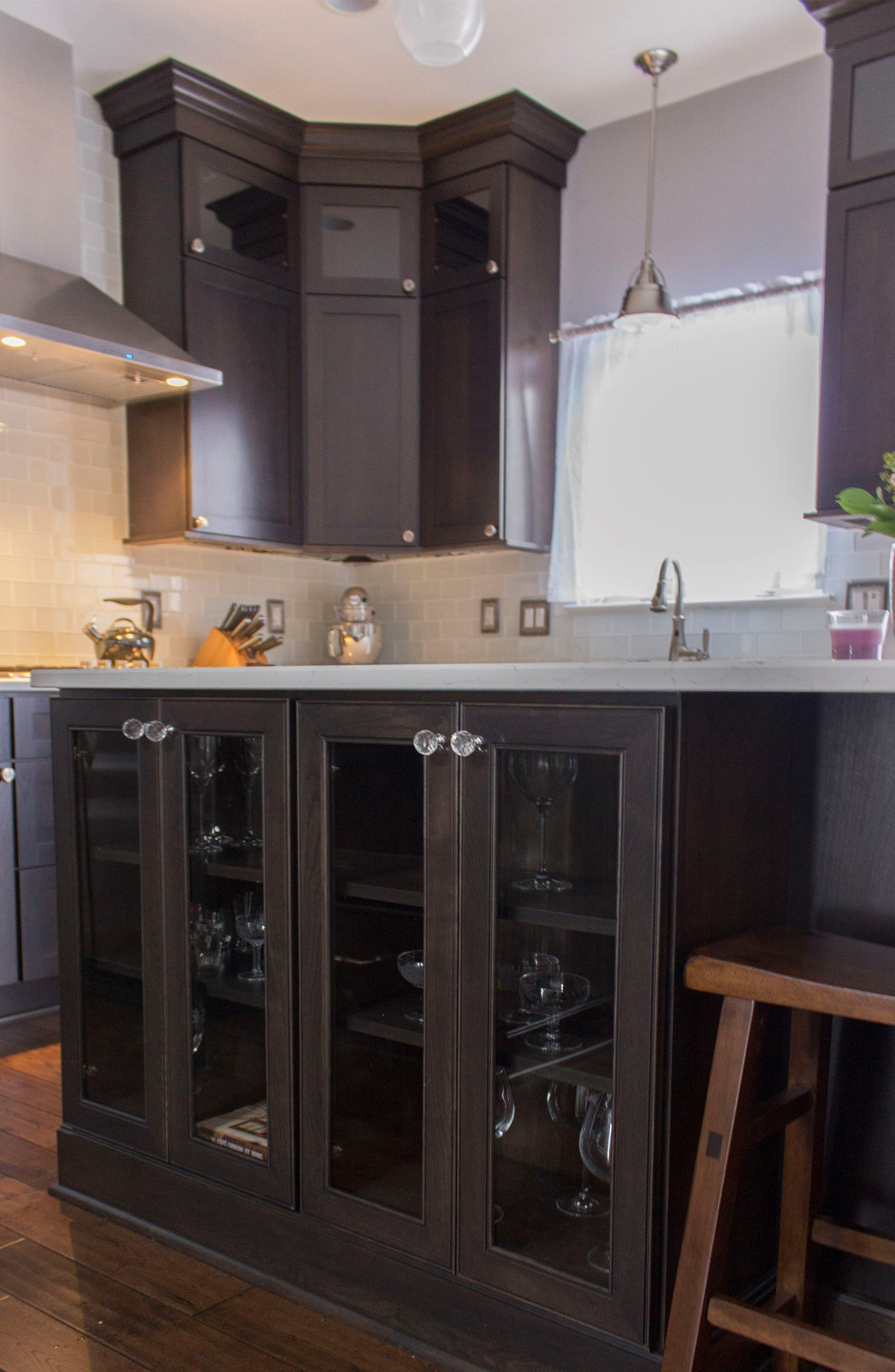 Gorgeous kitchen remodel. Rich tone shaker style cabinets ...