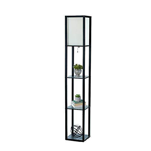 Simple Designs Lf1014 Blk Floor Lamp Etagere Organizer Storage