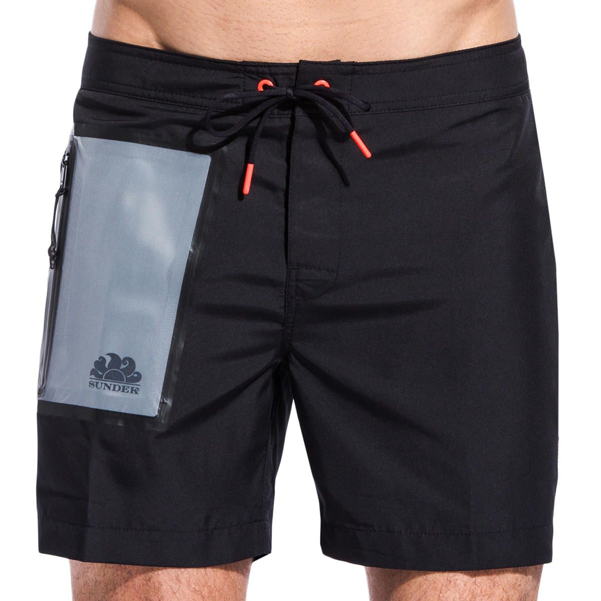 a212849099 Sundek MID-LENGTH SWIM SHORTS WITH WATERPROOF POCKET M532BDP0200-004 ...