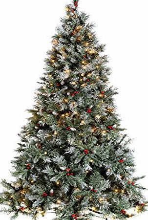 WeRChristmas Pre-Lit Scandinavian Spruce Pine Cone and Berry Christmas Tree,  400-LED - Pin By Compare Prices On December Week 1 B Pinterest December