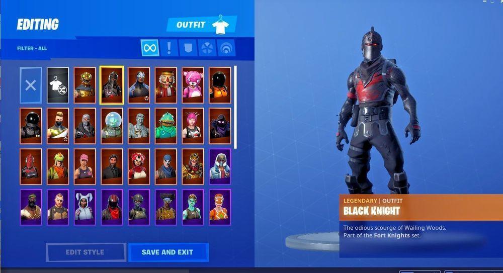Fortnite Account With Stw Black Knight Original Skull Trooper