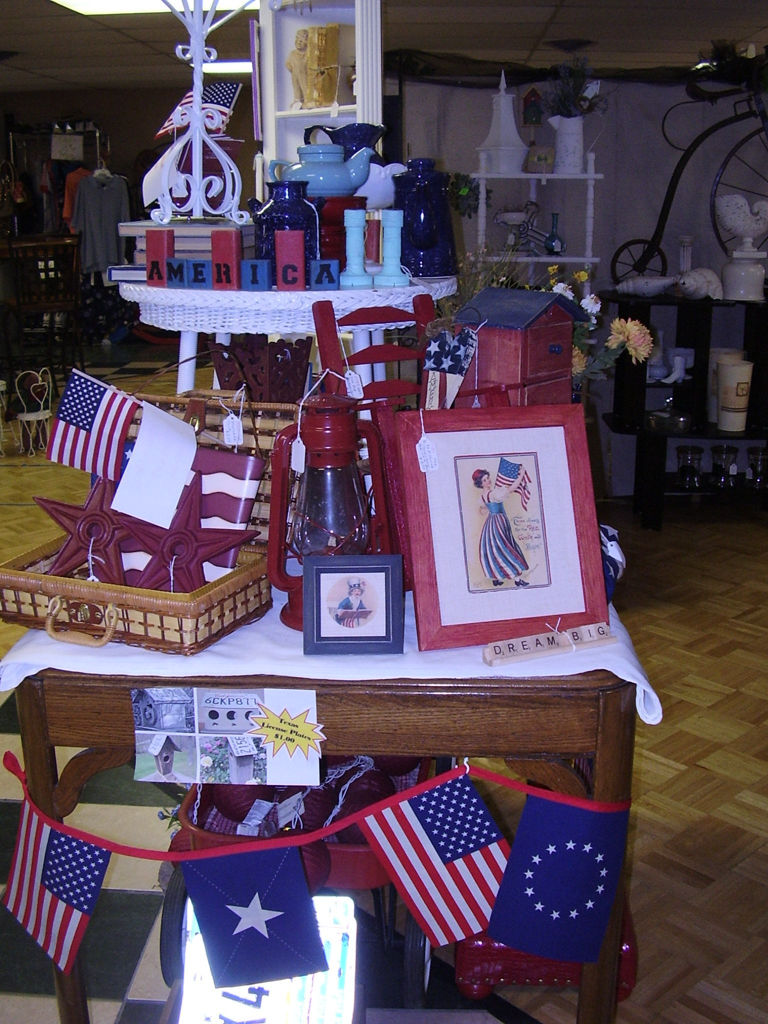 Red White Blue Display The Red Door Boutique Feather Your Nest