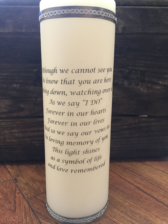 Explore Memory Candle Wedding Memorial Candleore