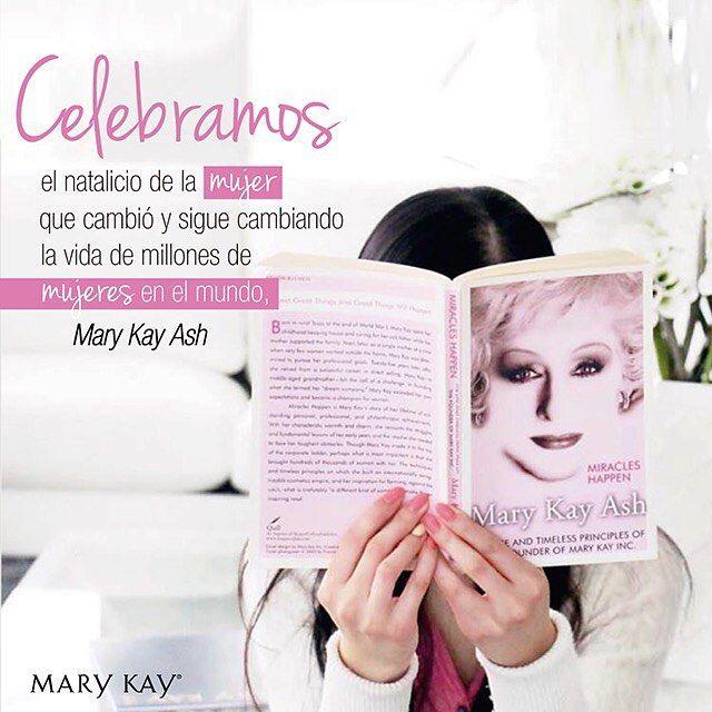 """""""No te limites, tu puedes ir tan lejos como tu mente lo permita. Recuerda, puedes lograr lo que verdaderamente creas que puedes lograr."""" #MaryKayAsh #NatalicioMaryKayAsh #12deMayo"""