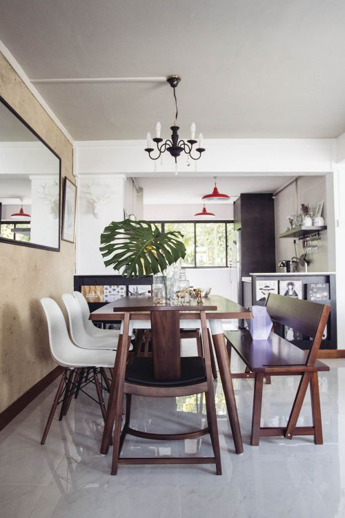 Modern Dining Room In Singapore Home With Images Dining Room