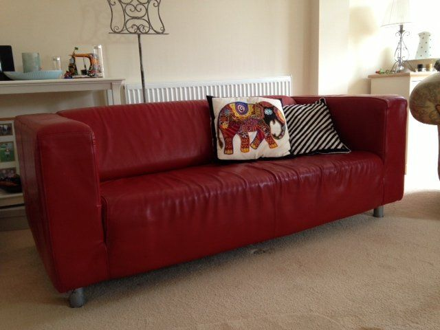 Marvelous 25 Preloved Red Leather Sofa For Sale In Leicester Pabps2019 Chair Design Images Pabps2019Com