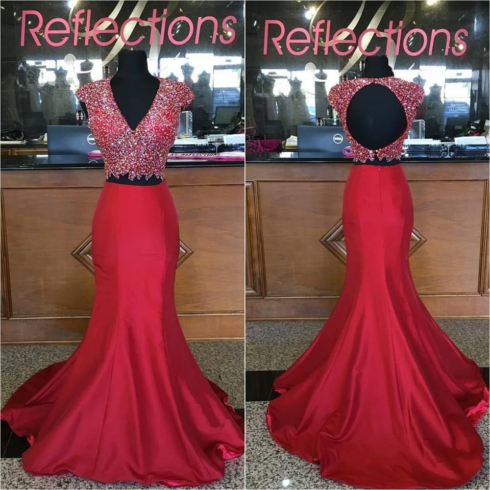 dark red prom dresses long with cap sleeves and backless real