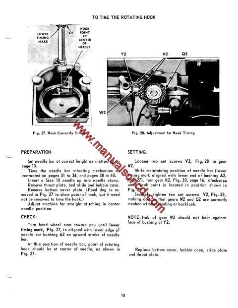 singer 500 and 503 sewing machine service manual  here are