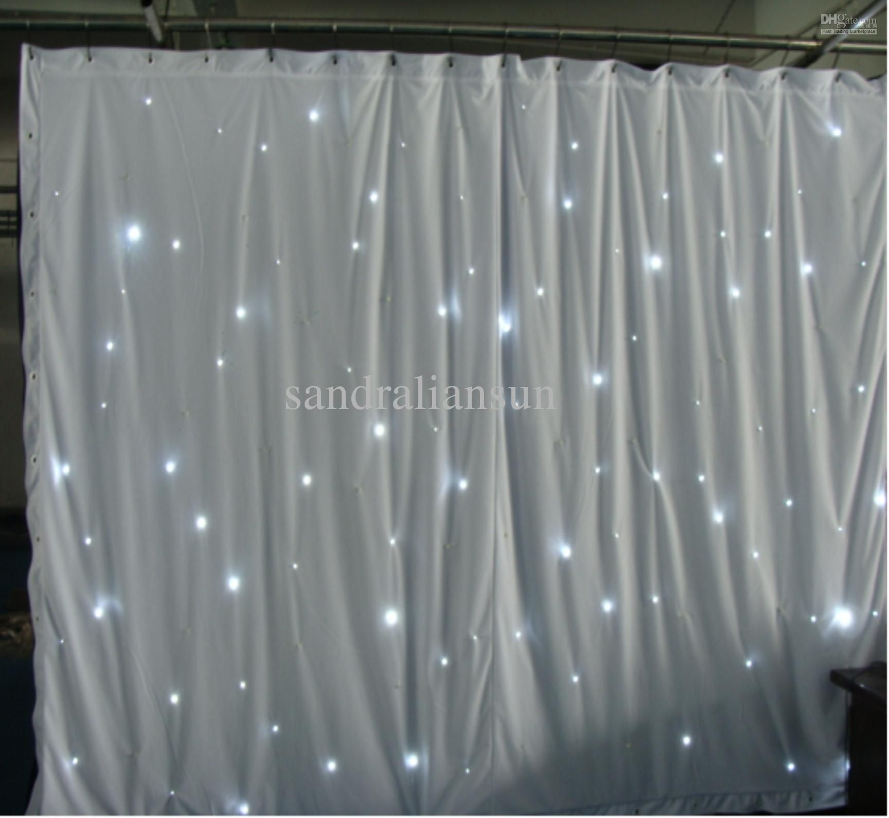 Curtain lights for weddings - Top Quality 8x3m Smd5050 White Led Curtain Lights Backdrop For Weddings Star Cloth Curtain Light With White Fireproof Velour