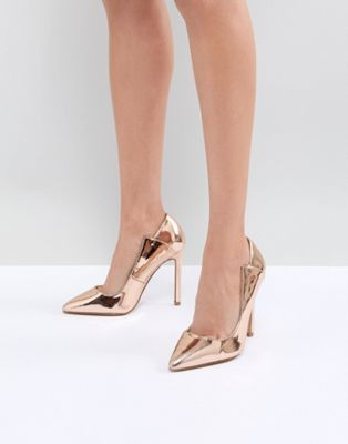 c61a01debcf8 Lost Ink Rose Gold Paris Cut Out Pumps in 2019