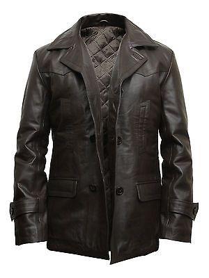 Brandslock Mens Genuine Leather Jacket Lambskin Slim fit Leather Coat Outer Wear