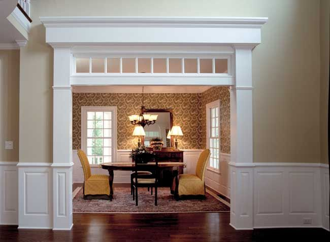Cased Opening Millwork Room Home Dining Room