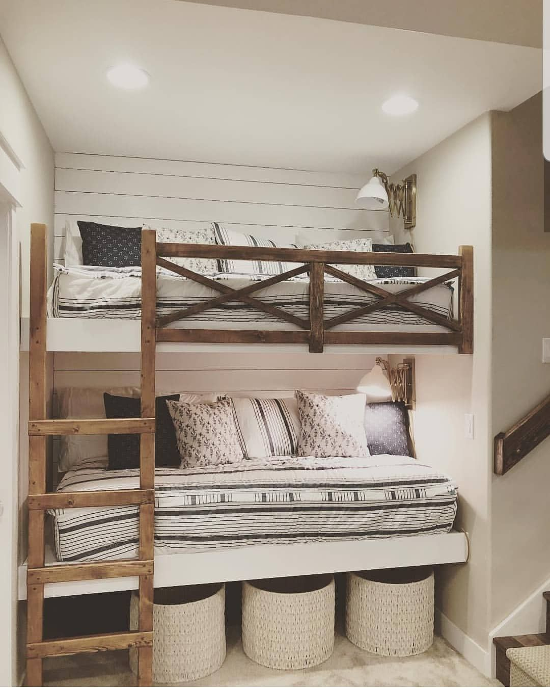 """Farmhouse Stylebook on Instagram: """"I don't necessarily need bunk beds but now I definitely want some. This is perfect.  Photo belongs to: @birdie_home_"""""""