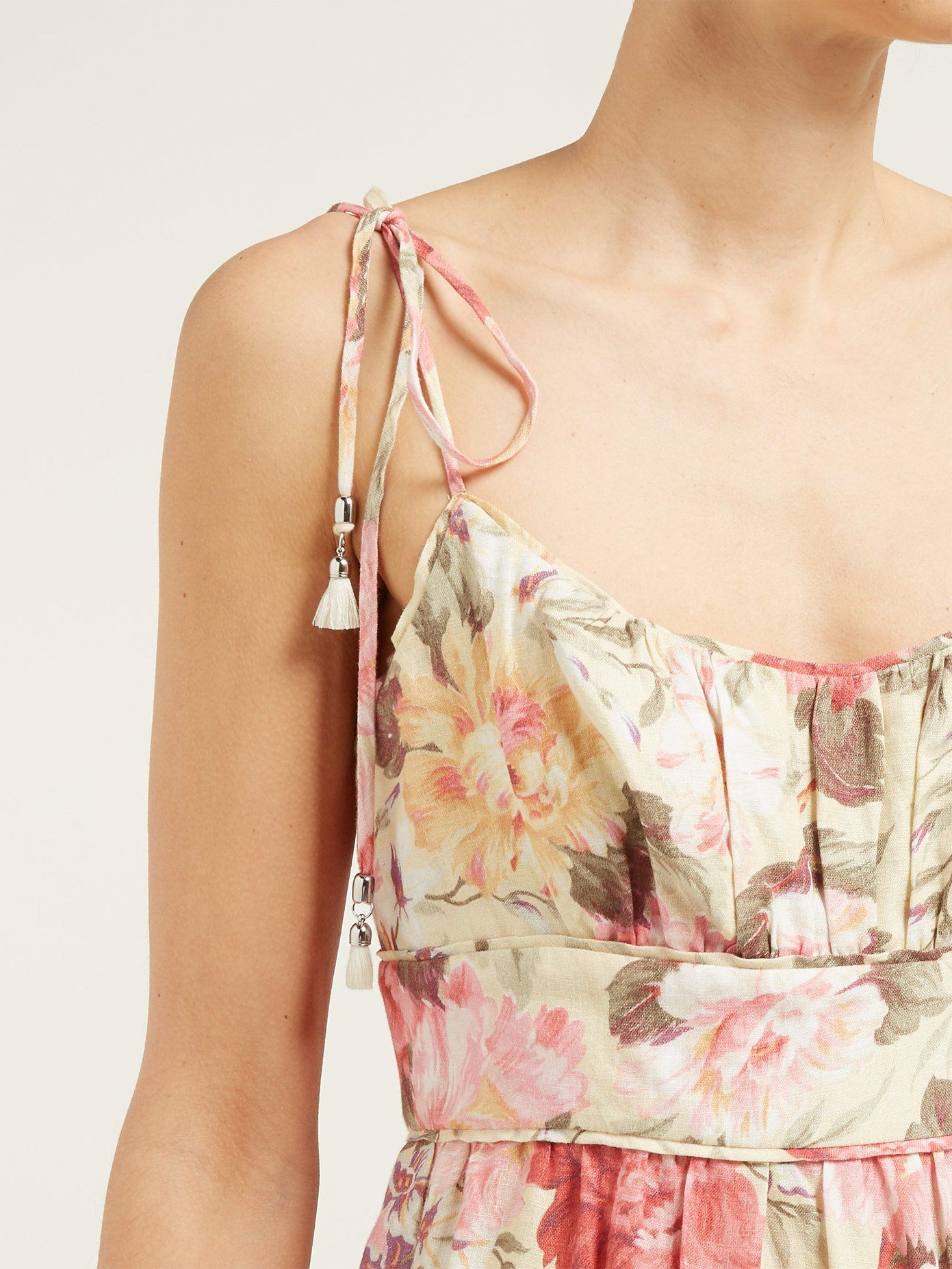 d64aeab4ab735 Honour tiered floral-print midi dress | Zimmermann | MATCHESFASHION ...