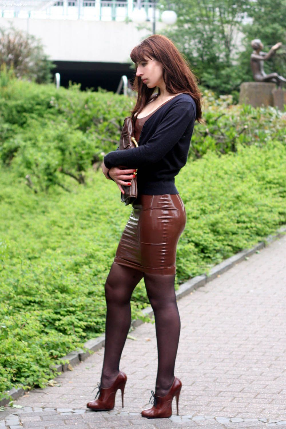 Pinterest What Shoe With Leather Pencil Skirt