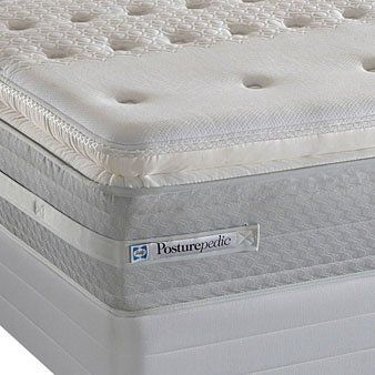 King Sealy Posturepedic Gervalis Firm Euro Pillow Top Mattress By