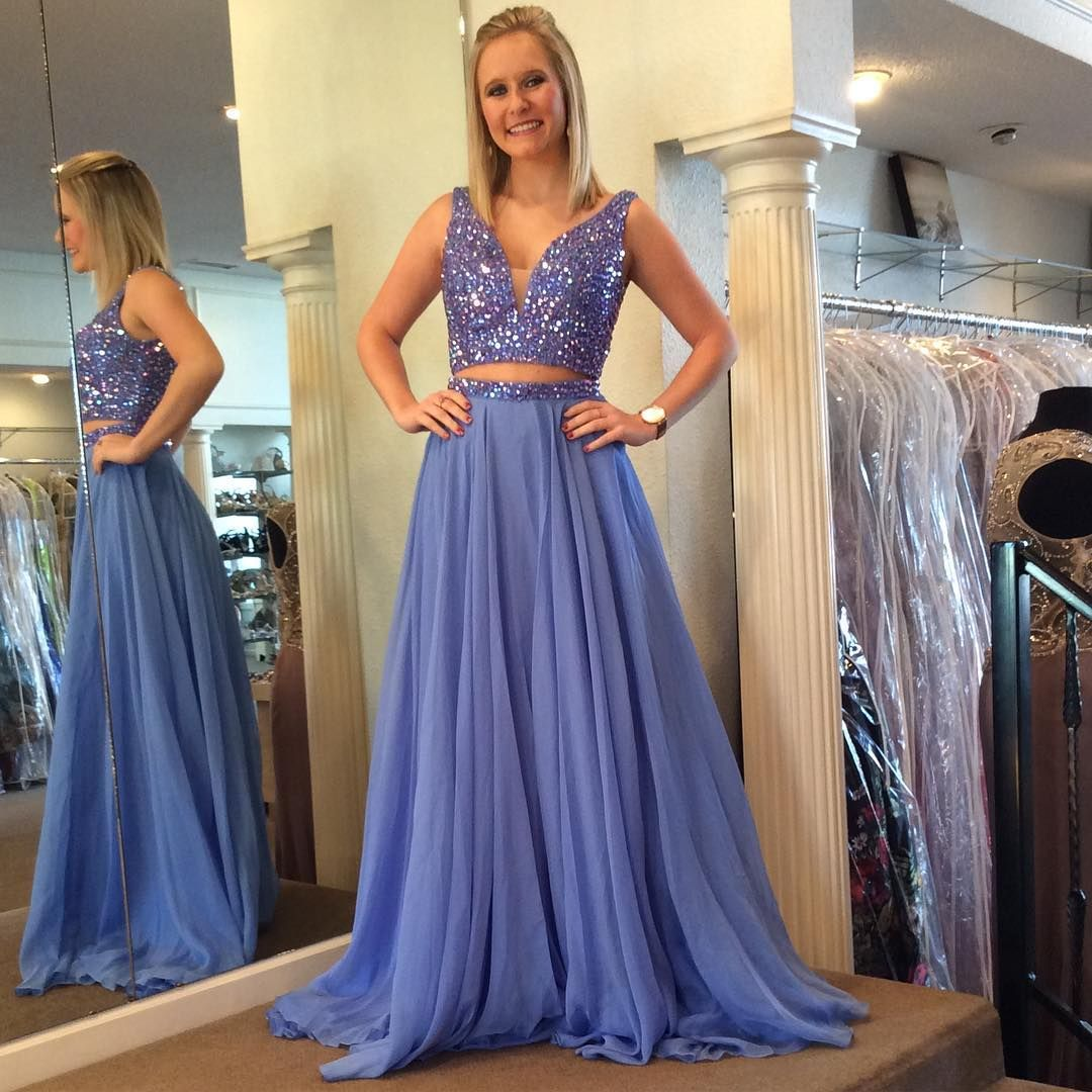 Prom Dresses, Prom Gown, Prom Dress Two Piece, Sparkle Prom Dress ...