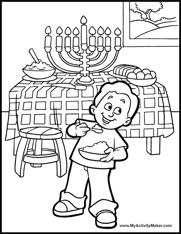 hanukkah 7 branch menorah printable hanukkah coloring page by - Hanukkah Coloring Pages