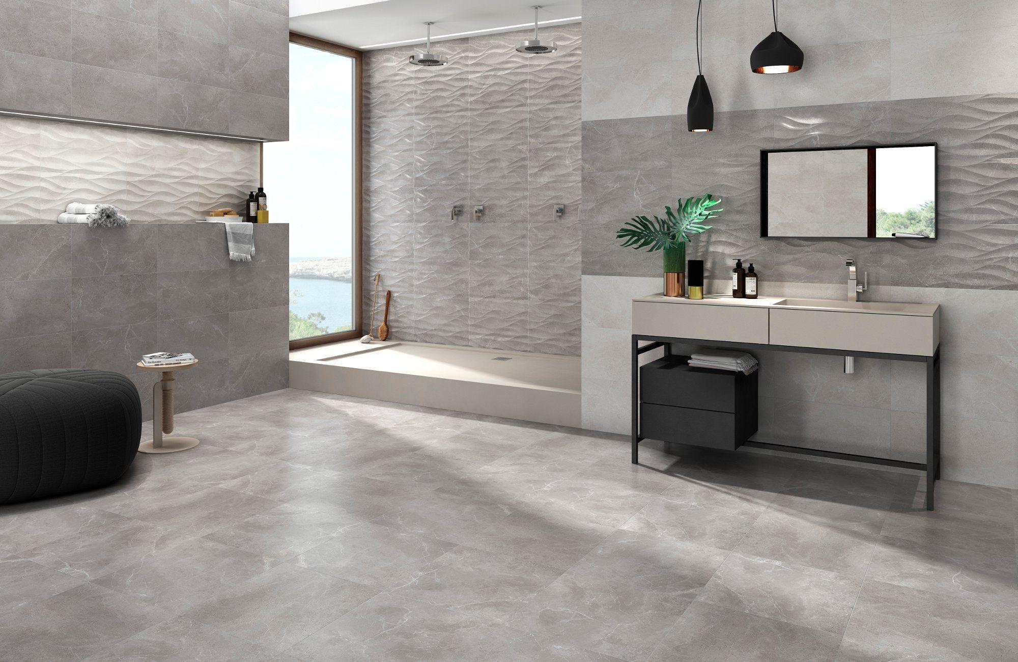 Marble Effect Matt Grey Floor Tile Grey Wall Tiles Light Grey Walls Grey Flooring