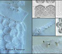 rochie de zăpadă fată albă tricot