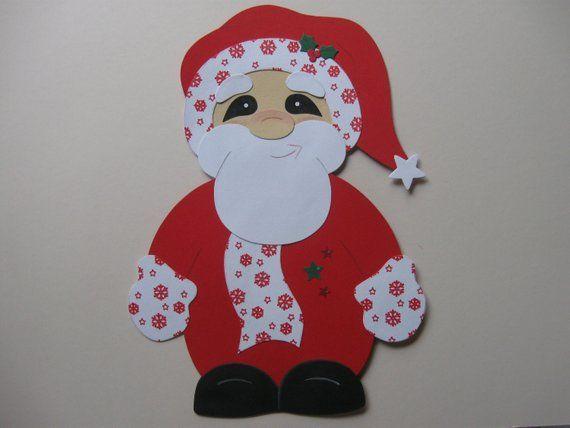 fensterbild knuffiger santa weihnachtsmann weihnachten x. Black Bedroom Furniture Sets. Home Design Ideas