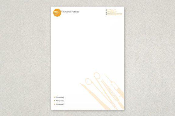 Sleek medical letterhead template dental letterhead pinterest sleek medical letterhead template altavistaventures Images