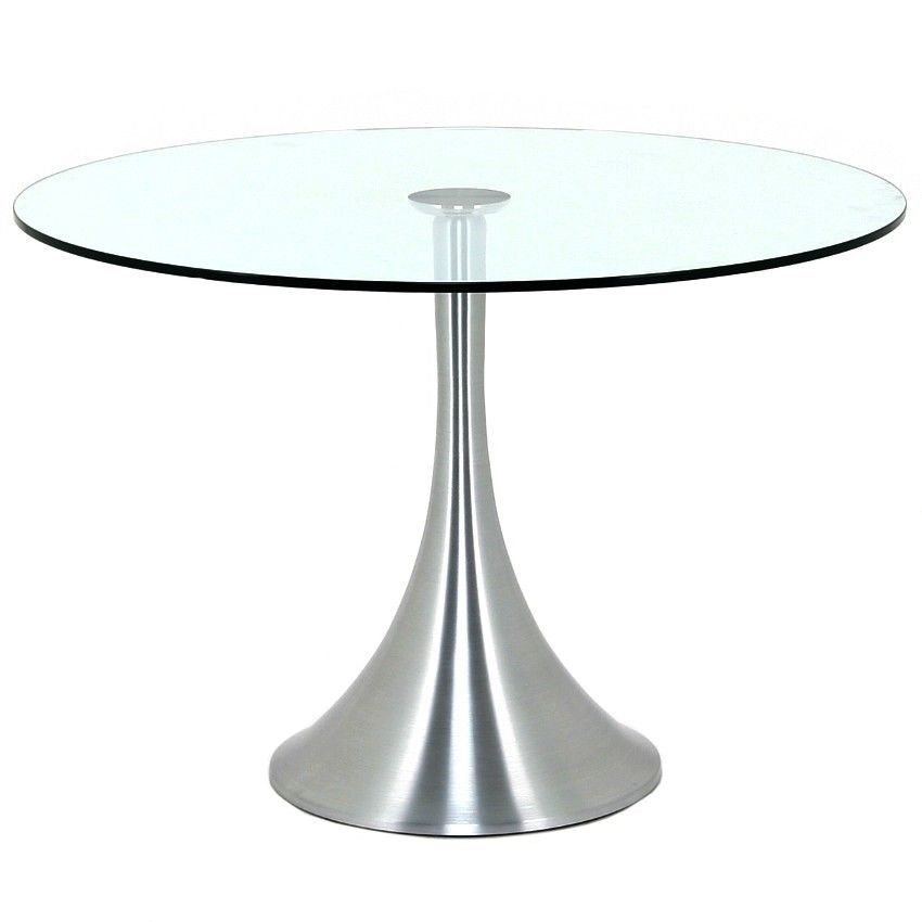 Glass Coffee Table Vancouver: Trumpet Table - Aluminum Base / Glass