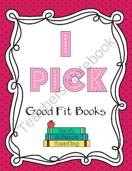 I Pick Good Fit Books from Designs by Nawailohi on TeachersNotebook.com -  (8 pages)  - This is a great visual to display on your walls to help your students understand how to pick good fit books for them to read.