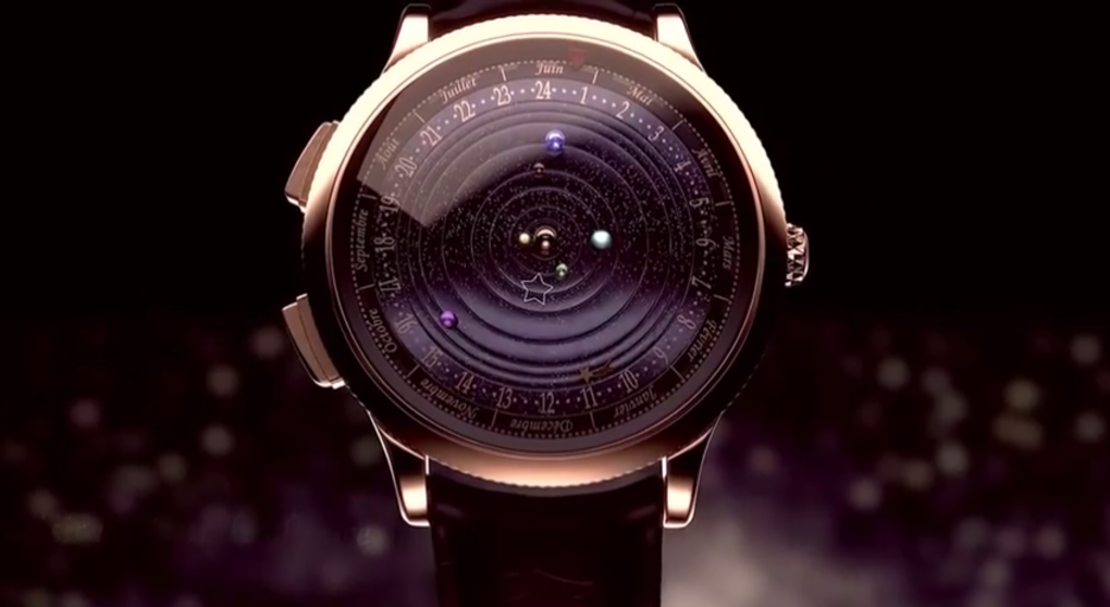 This watch accurately shows The Solar System's Movements on your wrist.  Van Cleef & Arpel