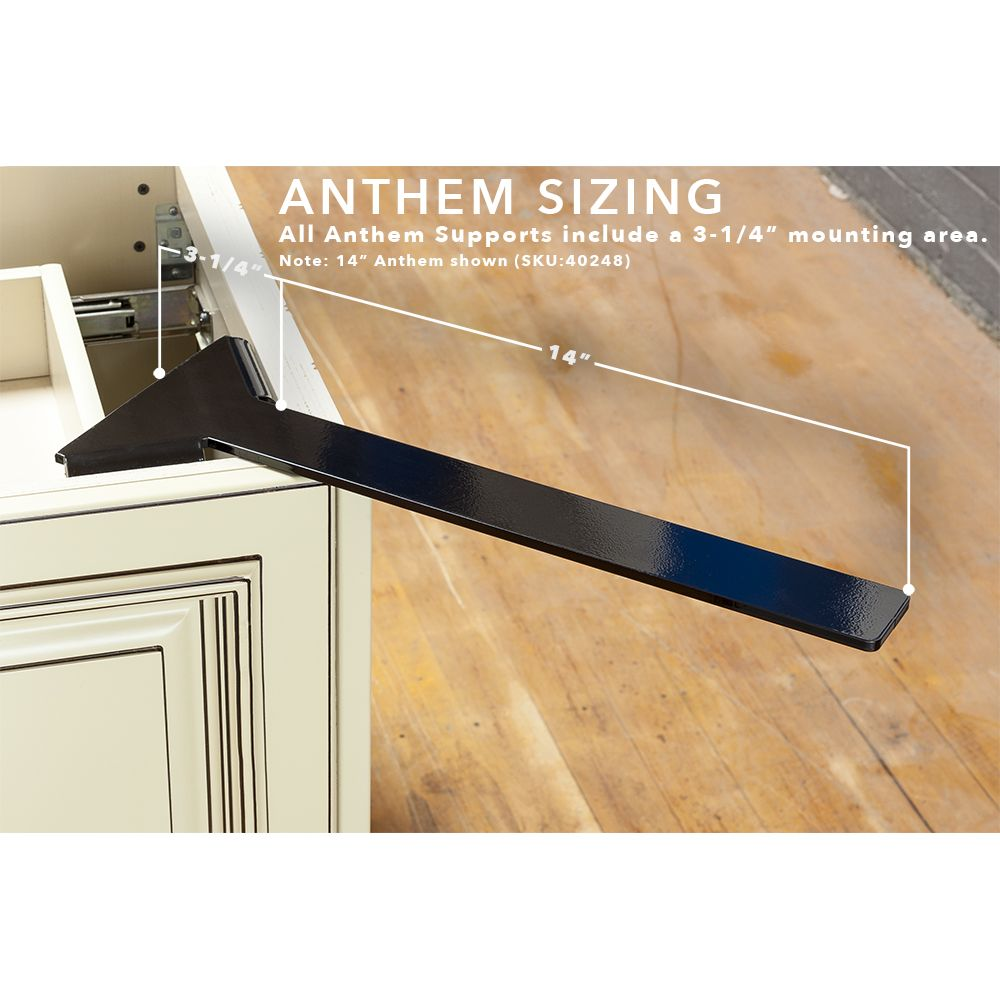 Anthem Hidden Corner Overhang Support Countertop Support Supportive Hide