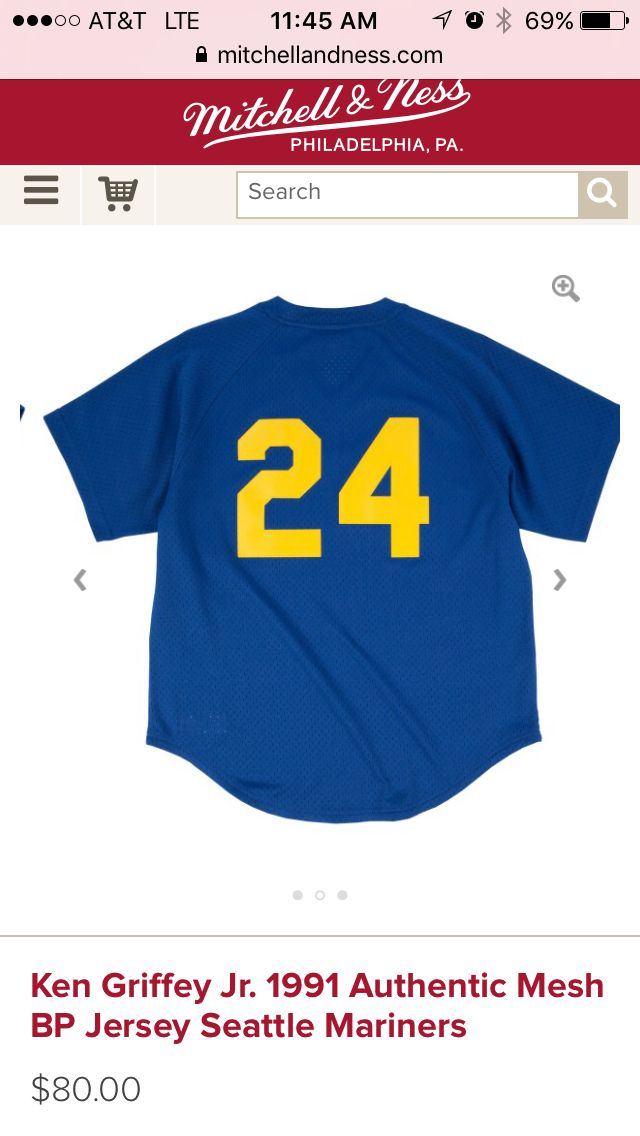 online retailer d1966 5d93a 1991 Ken Griffey Jr. Throwback BP, Mitchell & Ness | Sports ...