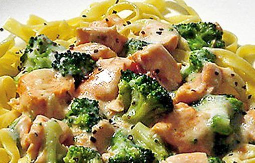 Lohi-parsakaalikastike pastalle