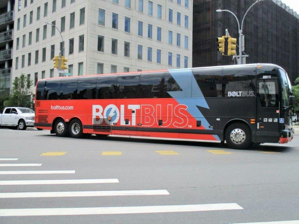 Bolt Van Hool In Nyc Bus Terminal Bus Bus Stop
