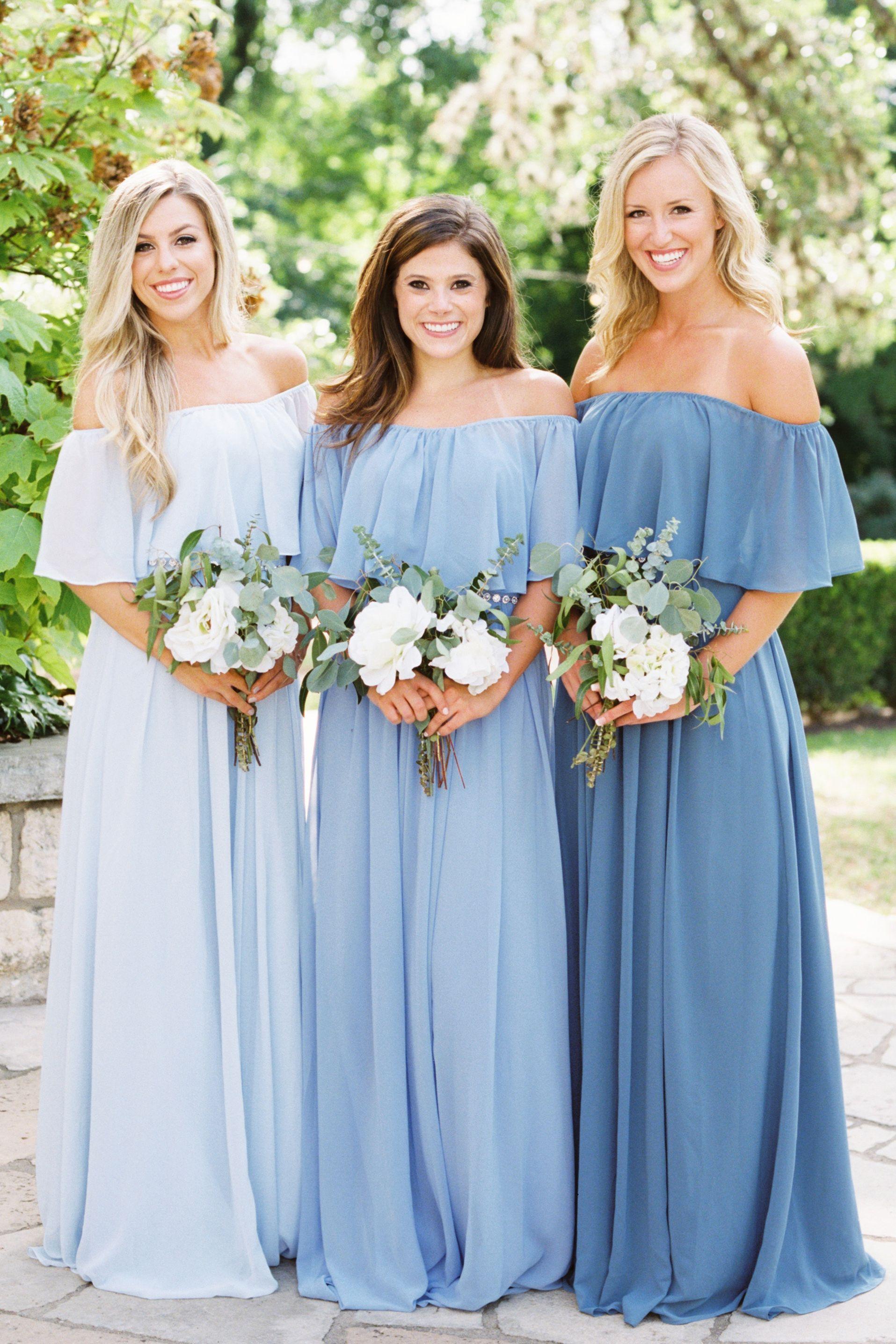 Abigail Chiffon Dress Light Blue Bridesmaid Dresses Light Blue Bridesmaid Yellow Bridesmaid Dresses
