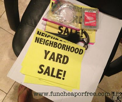 How to hold a successful yard sale - a complete step-by-step guide from FunCheapOrFree.com