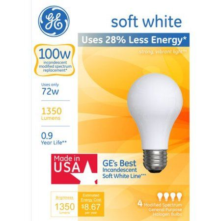 Household Essentials Bulb Light Bulb White Light Bulbs
