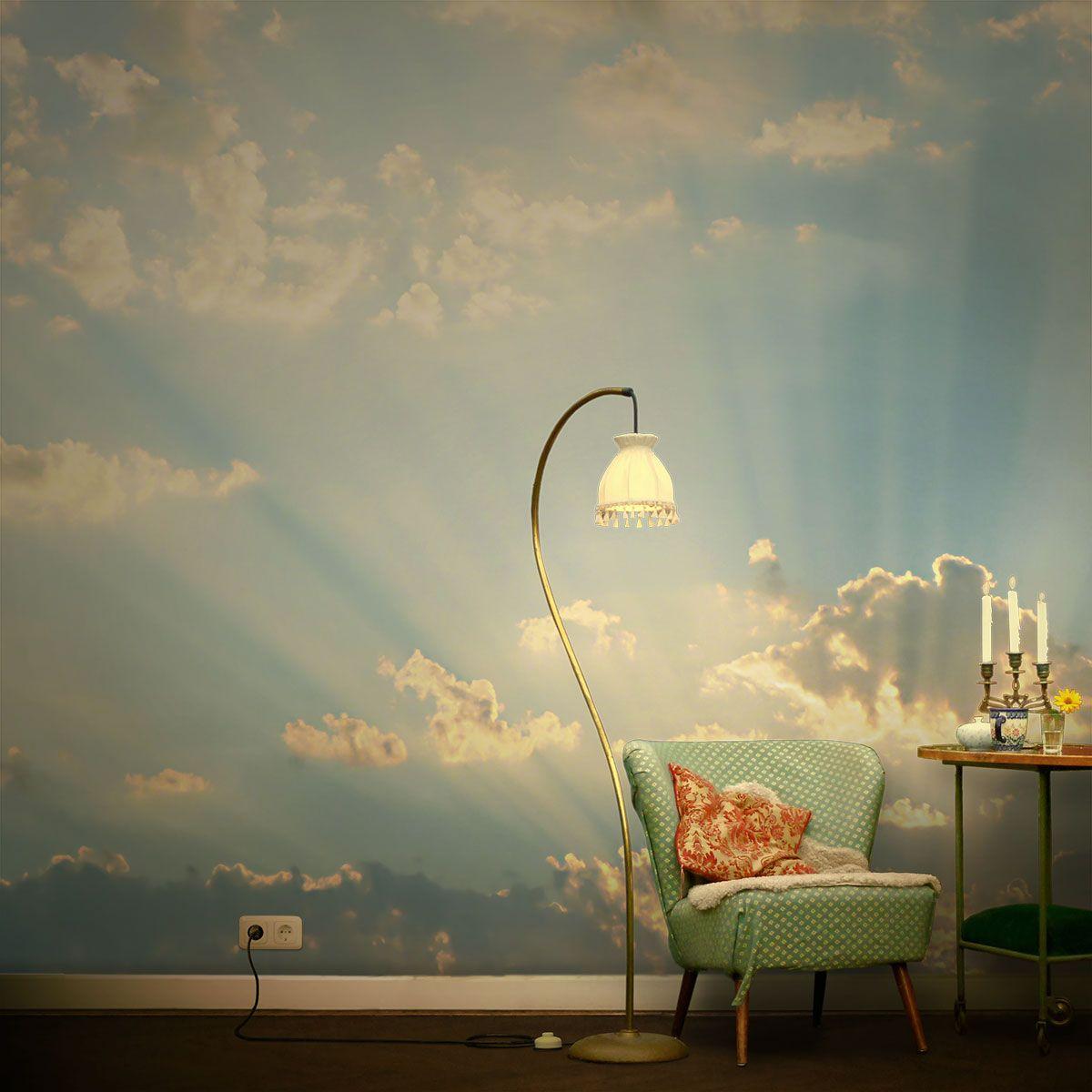 Wolkentapete im Salon. ... ... Die schönsten Wolkenphotos als Tapete ...