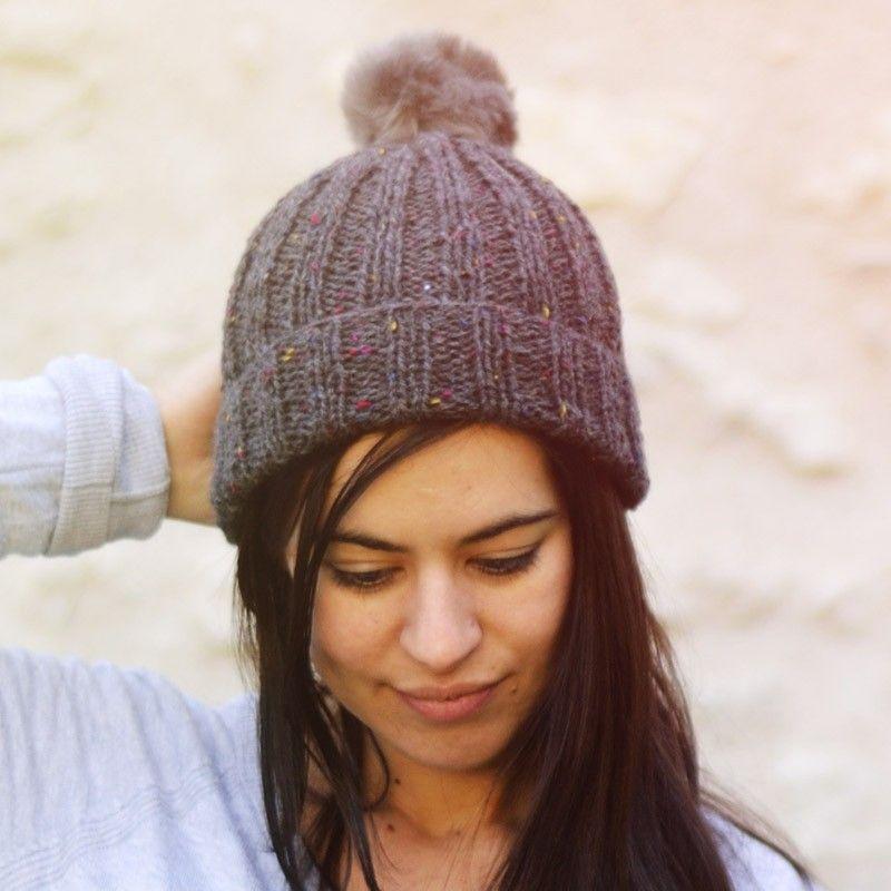 modele tricot bonnet pompon