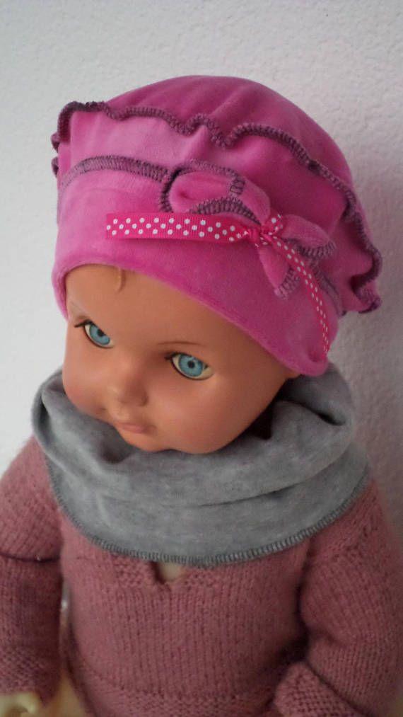 bonnet béret chapeau bébé fille et snood lin eva kids   BONNETS BÉBÉ ... e2262639d3a